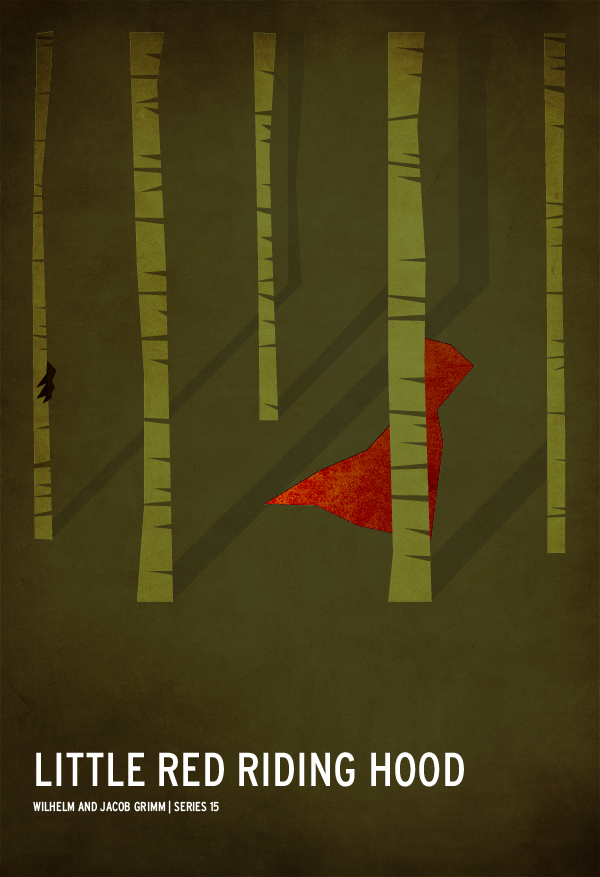 Red Riding Minimalistic Hood Poster